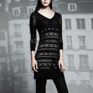 Knit Overlay Dress